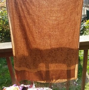 Beautiful brown and tan pashmina